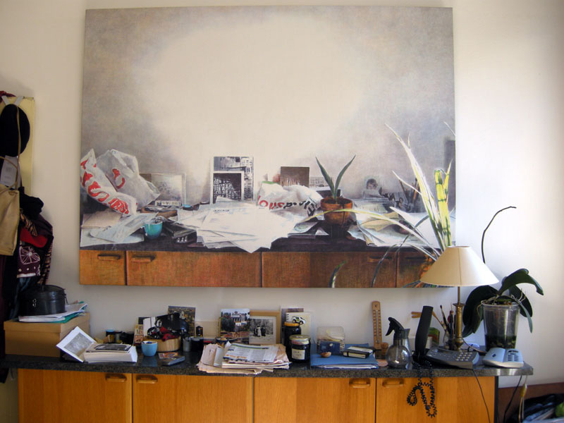 Studio, 2005, acrilico su tela, 160x120 cm