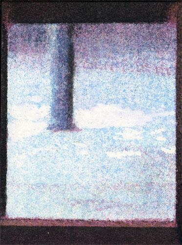 Le finestre, 2004, Acquerello e acrilico su carta incollata su tavole di legno, 25 pezzi, misure variabili (25 pezzi di 7,5 x 10 cm cad)